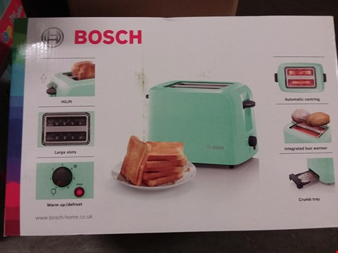 Lot 656 BOXED BOSCH 2 SLICE TOASTER