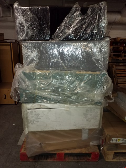 Lot 17081 PALLET OF 5 ASSORTED FABRIC DIVAN BED BASES