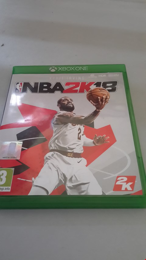 Lot 9068 NBA 2K18 FOR XBOX ONE