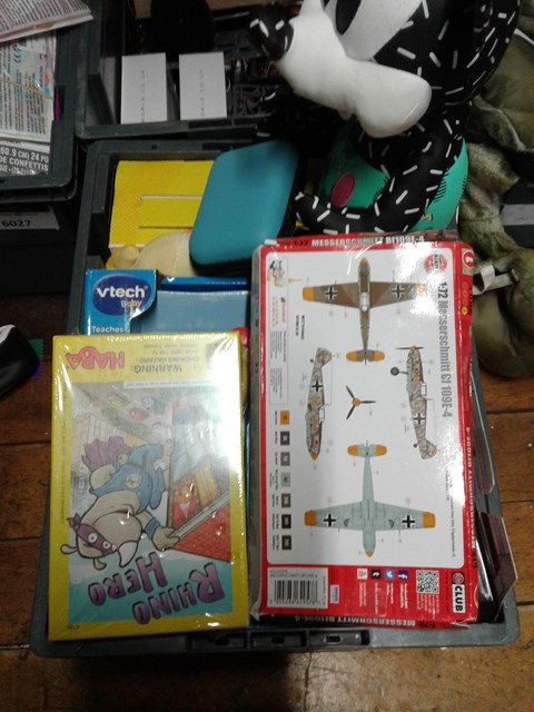 Lot 6025 BOX OF ASSORTED ITEMS TO INCLUDE  MESSERSCMITT MODEL - MICKEY MOUSE TEDDY -