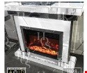 Lot 1049 BRAND NEW PREMIUM WHITE MIRROR FIREPLACE RRP £899.00