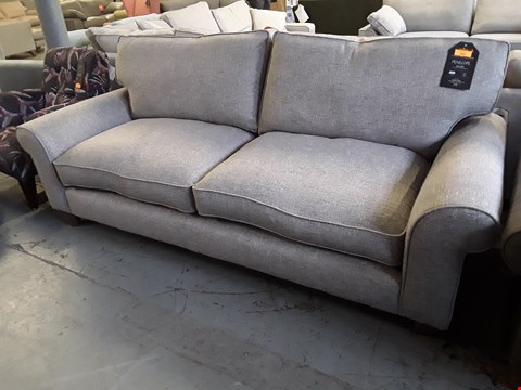 Lot 264 QUALITY BRITISH DESIGNER PENELOPE FOUR SEATER SOFA UPHOLSTERED IN GREY URBAN TWEED FABRIC RRP £1399