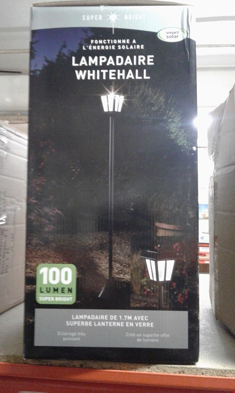 Lot 7925 GRADE 1 WHITEHALL SOLAR POWERED LAMP POST  RRP £49.99