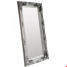 Lot 5025 BOXED DESIGNER DA CARVED LOUIS LEANER MIRROR 69X35.5 INCH - SILVER