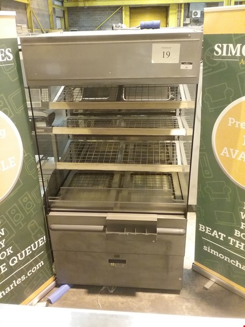 Lot 10 NUTTALLS T1 STAINLESS STEEL TURBO SERVE HOT FOOD DISPLAY CABINET