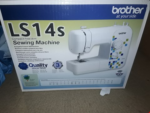 Lot 10256 BROTHER AT YOUR SIDE LS14S COMPACT FREE ARM SEWING MACHINE