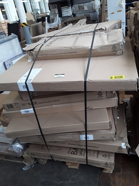 Lot 2174 PALLET OF ASSORTED FLAT PACK KITCHEN ITEMS