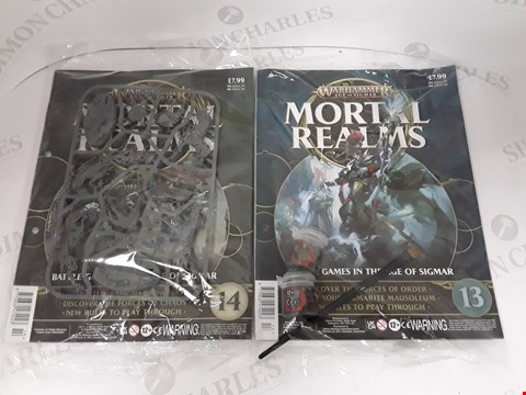 Lot 7182 LOT OF 2 ASSORTED WARHAMMER AGE OF SIGMAR MORTAL REALMS COLLECTION PACKS- 13 AND 14 EDITION