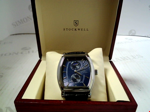 Lot 7164 DESIGNER STOCKWELL WATCH WITH MOONPHASE MOVEMENT AND SUB DIALS RRP £500.00