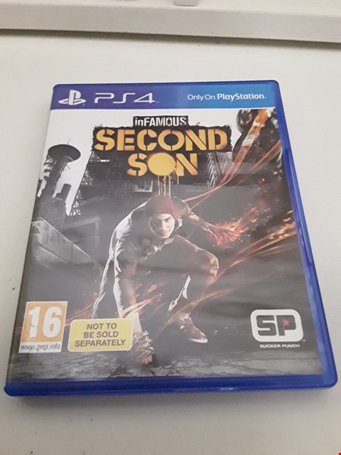 Lot 8 INFAMOUS SECOND SON PLAYSTATION 4 GAME