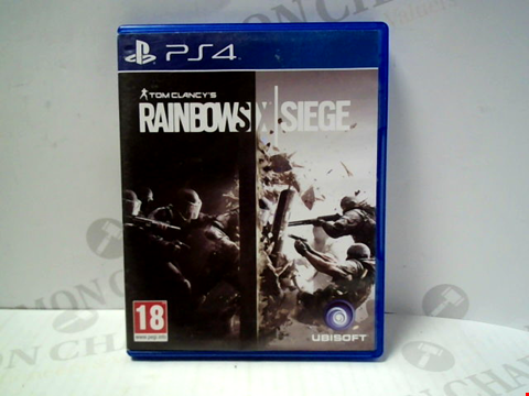 Lot 5725 TOM CLANCY'S RAINBOW SIX SEIGE PLAYSTATION 4 GAME