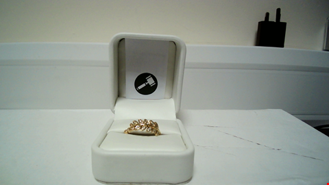 Lot 18 18CT YELLOW GOLD 'LEAF' RING SET WITH DIAMONDS RRP £1125.00