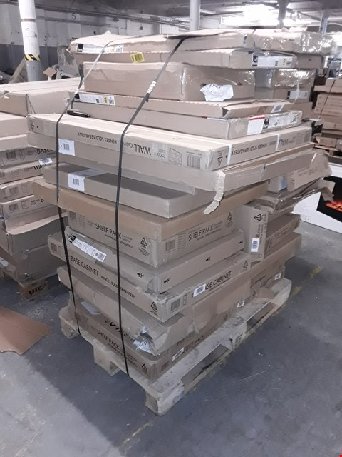 Lot 3046 PALLET OF ASSORTED FLAT PACK KITCHEN ITEMS  RRP £941.00