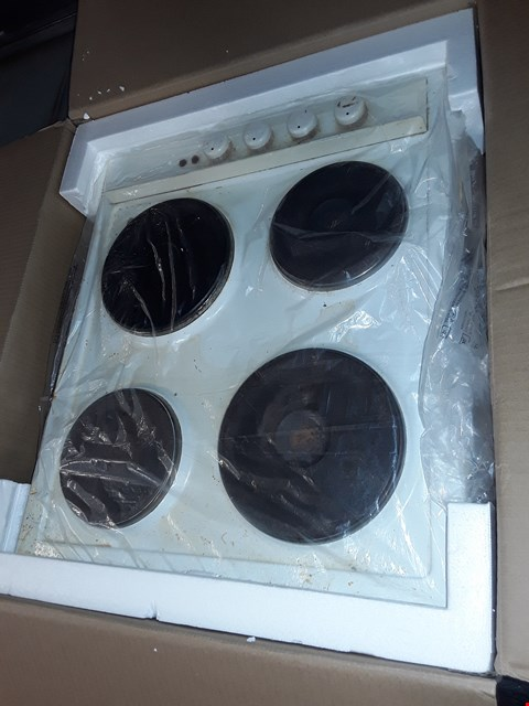 Lot 2165 WHITE 4 PLATE HOB (USED)