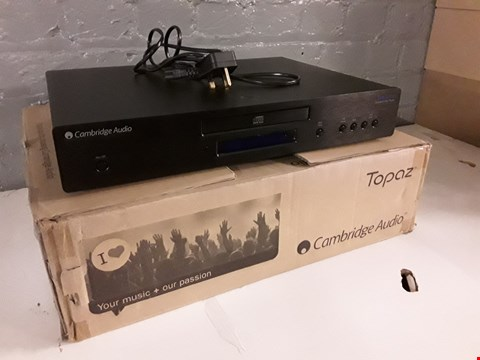Lot 8015 CAMBRIDGE AUDIO TOPAZ WI-FI QUALITY SEPARATES CD PLAYER RRP £199.00