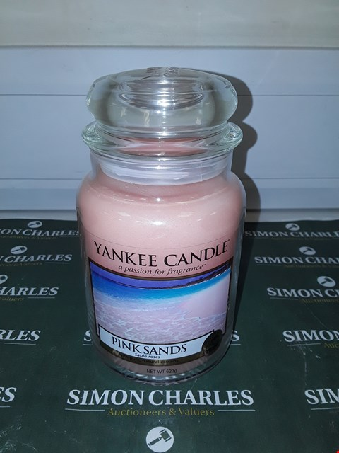 Lot 9132 LARGE YANKEE CANDLE - PINK SANDS  RRP £20.00