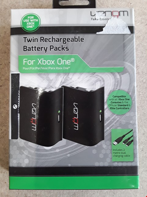 Lot 117 BRAND NEW BOXED VENOM TWIN RECHARGABLE BATTERY PACK FOR XBOX ONE
