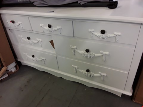 Lot 2045 DESIGNER WHITE PERIOD STYLE 3 OVER 4 DRAWER CHEST
