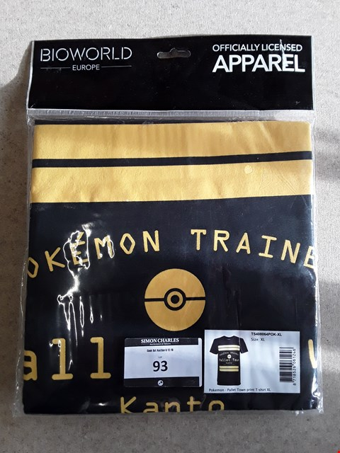 Lot 93 BRAND NEW POKEMON OFFICIALLY LICENSED T-SHIRT XL
