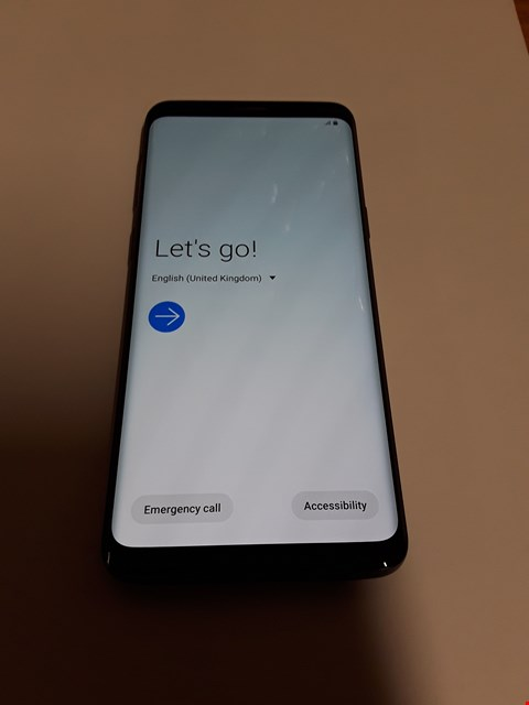 Lot 611 SAMSUNG GALAXY S9 64GB MOBILE PHONE - CORAL BLUE