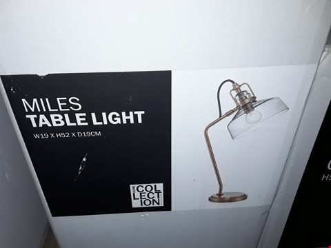 Lot 361 BOXED HOME COLLECTION MILES TABLE LAMP