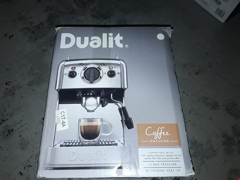 Lot 5448 DUALIT 84443 3-IN-1 COFFEE MACHINE, CANVAS WHITE
