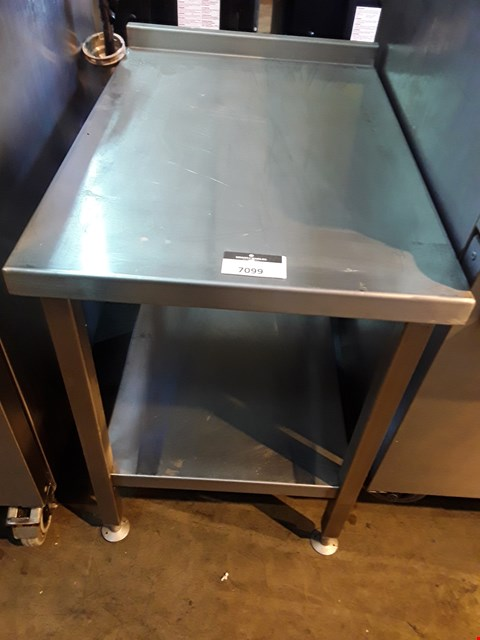 Lot 7099 COMMERCIAL LOW INFILL WORK TABLE/STAND WITH UNDERSHELF