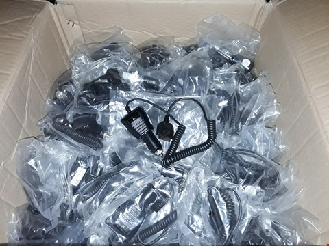 Lot 1102 BOX OF APPROXIMATELY 100 IN-CAR PHONE CHARGES