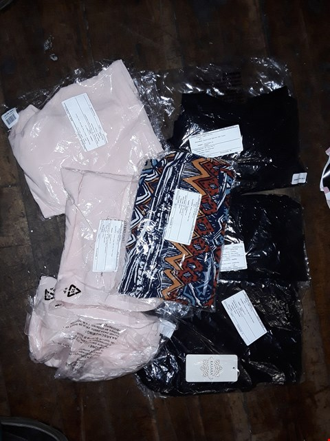 Lot 701 LARGE BOX OF ASSORTED CLOTHING ITEMS TO INCLUDE KASARA CREPE TROUSERS, CROP TROUSERS AND NICOLE CAME TOPS