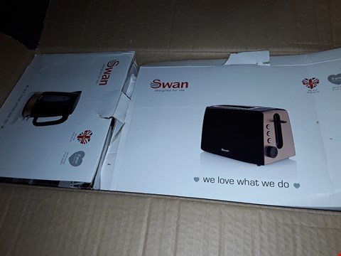 Lot 52 SWON KETTLE & 2 SLICE TOASTER TWIN PAC RRP £37.99