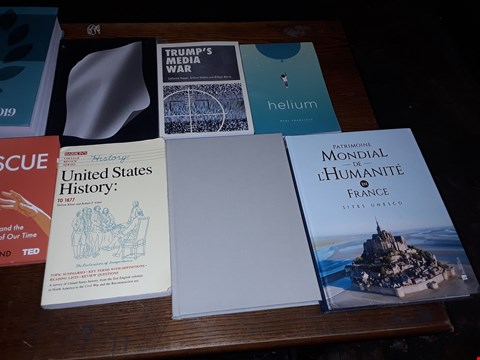Lot 153 LOT OF APPROXIMATELY 13 ASSORTED BOOKS TO INCLUDE CHAMBERS RANKING GUIDE LATIN AMERICA, TRUMP'S MEDIA WAR AND BECOMING MICHELLE OBAMA ECT