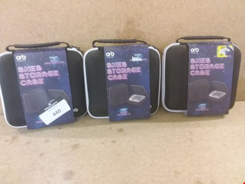 Lot 440 3 BRAND NEW SNES STORAGE CASES