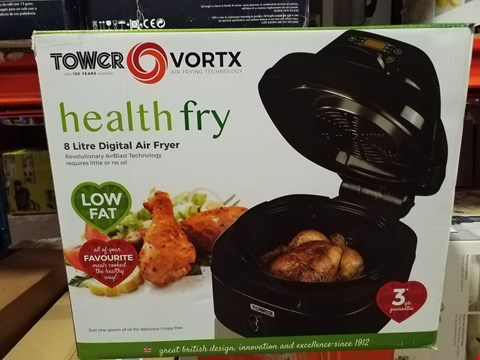 Lot 293 TOWER T17004 AIRWAVE 8L 1000W DIGITAL AIR FRYER WITH TURBO AIR TECHNOLOGY