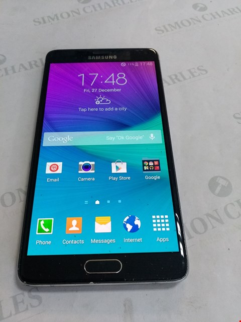 Lot 66 SAMSUNG NOTE 4 MOBILE PHONE 32GB - UNLOCKED