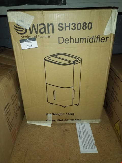 Lot 784 SWAN SH3080 20L DEHUMIDIFIER  RRP £170