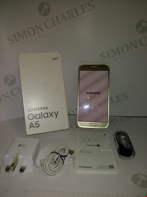 Lot 18342 SAMSUNG GALAXY A5 32GB SMART PHONE IN GOLD SAND