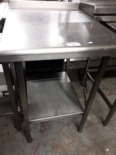 Lot 71 SMALL METAL WORK TABLE WITH UNDERSHELF