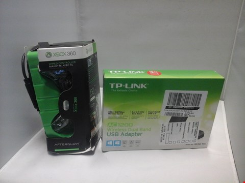 Lot 1015 BOXED TP LINK WIRELESS DUAL BAND USB ADAPTER AND BOXED XBOX 360 AFTERGLOW WIRED CONTROLLER  RRP £87