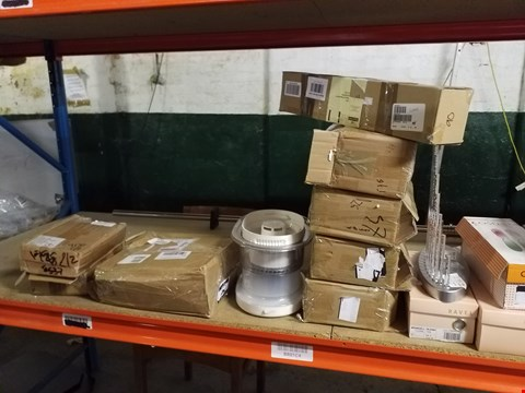 Lot 619 SHELF OF APPROXIMATELY 19 ASSORTED ITEMS TO INCLUDE DISHWASHER EGG, DECORATIVE BRANCH AND ADESSO SLIP ON SHOES ECT