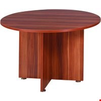 Lot 9164 BRAND NEW BOXED FF AVIOR 1200MM ROUND MTG TABLE CHERRY