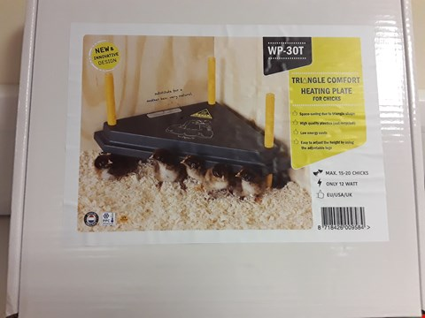 Lot 1510 WP-30T TRIANGLE COMFORT HEATING PLATE FOR CHICKS