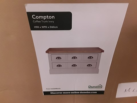 Lot 7089 BOXED COMPTON IVORY COFFE TRUNK