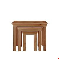 Lot 2210 GRADE 1 CONSTANCE SOLID OAK NEST OF TABLES (1 BOX) RRP £259.00