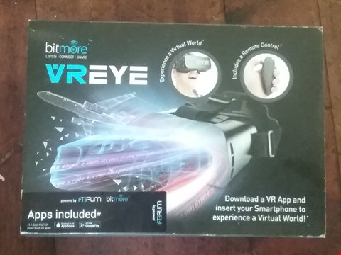 Lot 2104 BOXED BITMORE VREYE VIRTUAL REALITY HEADSET