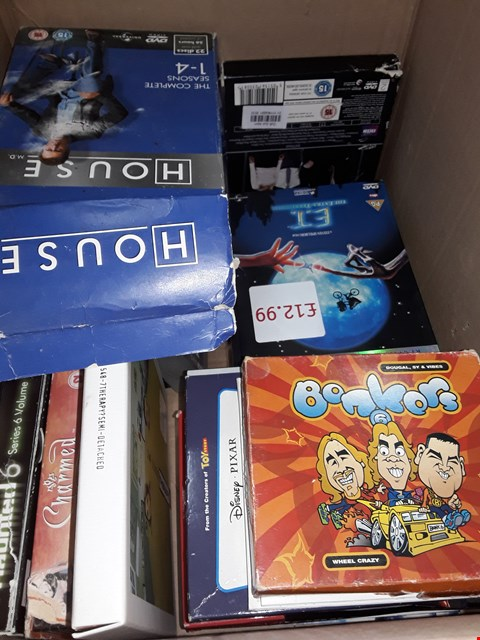 Lot 12009 APPROXIMATELY 25 DVDS BOX SETS AND DVDS & CDS  , TO INCLUDE,  BAT MAN , ROCKY ,HOUSE ,ET & MORE