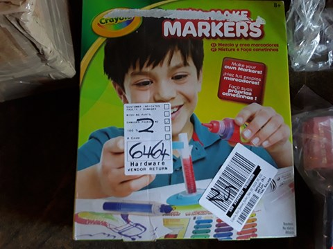 Lot 2319 APPROXIMATELY 4 GRADE 1 ITEMS TO INCLUDE CRAYOLA MIX AND MAKE MARKERS AND SCRUFF-A-LUVS ANIMAL  RRP £109