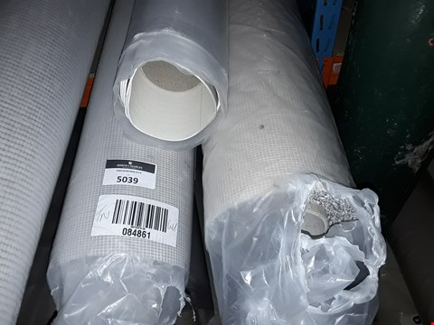 Lot 5039 LOT OF 3 ROLLS OF ASSORTED CARPET AND VINYL TO INCLUDE TWO STEP PLUS CEDAR VINYL APPROX 5X1.39M, SUPER TOP TWIST LIGHT GREY CARPET APPROX 4X1.56M AND A ROLL OF GREY CARPET SIZE UNSPECIFIED