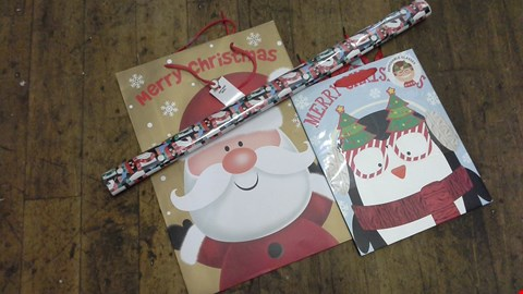 Lot 257 CUTE CHILDRENS 8 PIECE CHRISTMAS WRAPING SET RRP £20.00