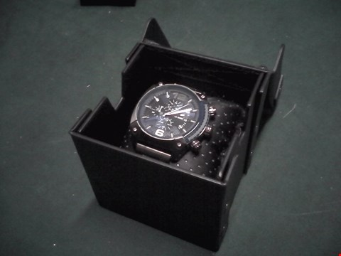 Lot 1547 BOXED DIESEL OVERFLOW ADVANCED BLUE DIAL CHRONOGRAPH WATCH RRP £319
