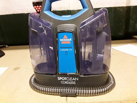 Lot 10495 BISSELL SPOT CLEAN CORDLESS STEAM CLEANER